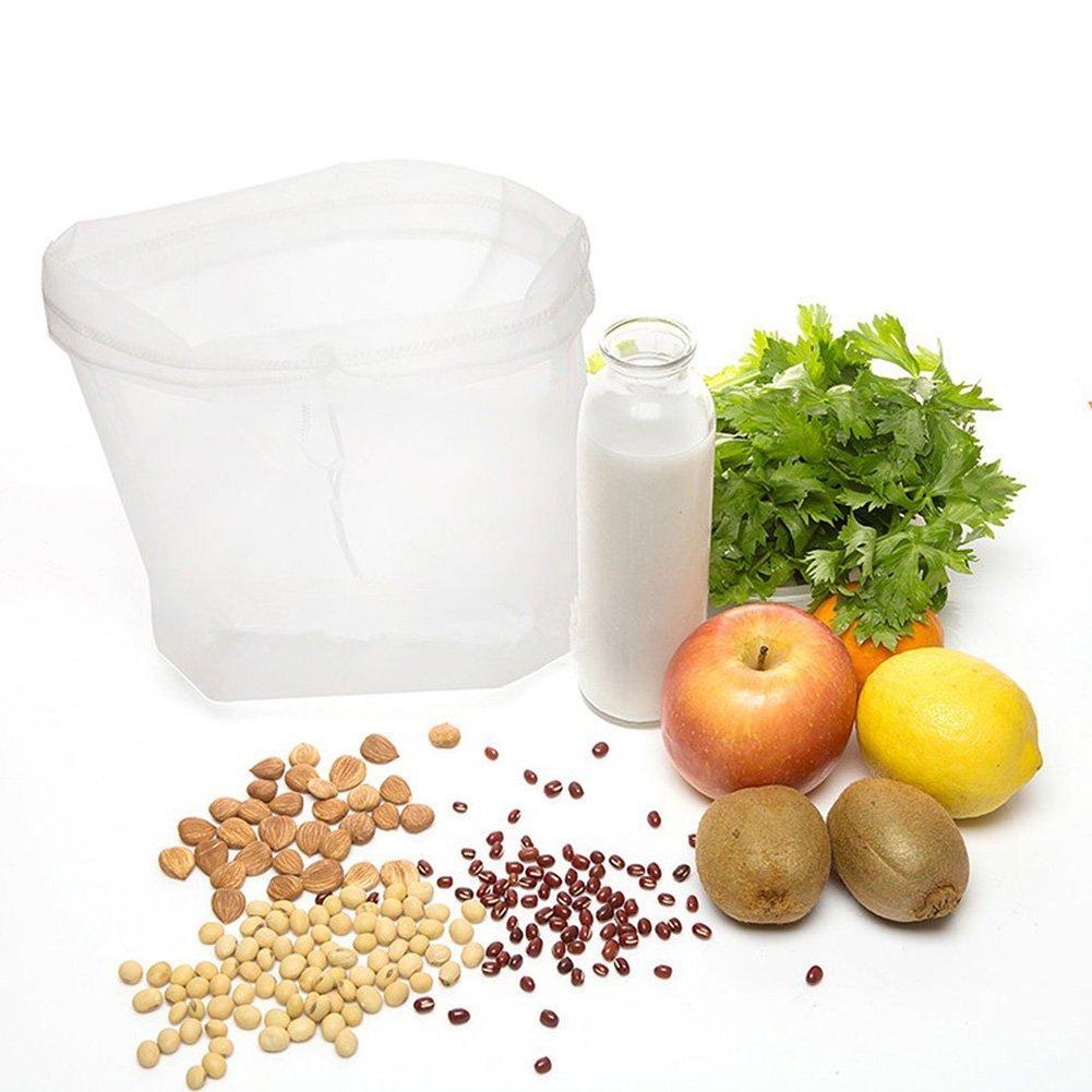 Queta Versátil Bolsa de filtro ideal para leche, zumos y suavizar verduras y frutas 10 cm x 20 cm: Amazon.es: Hogar