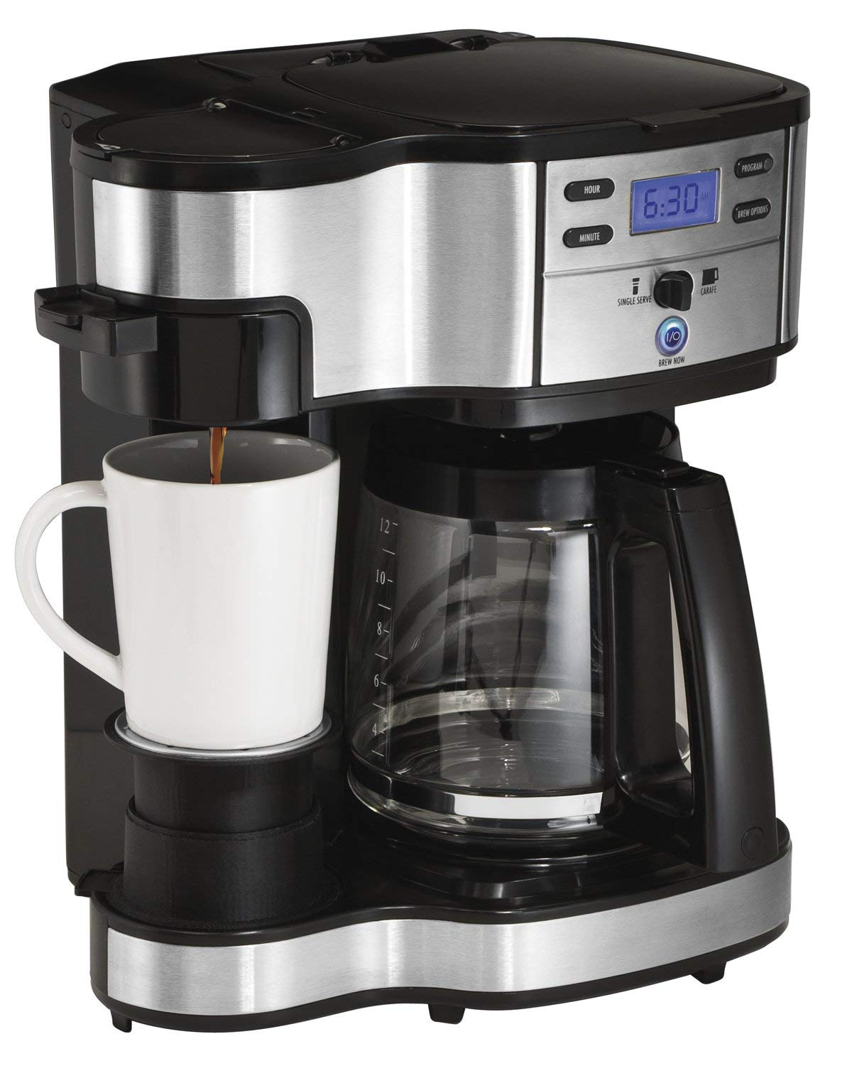 Hamilton Beach (49980A) Single Serve Coffee Maker and Coffee Pot Maker, Programmable, Black/Stainless Steel (Renewed) by Hamilton Beach (Image #6)