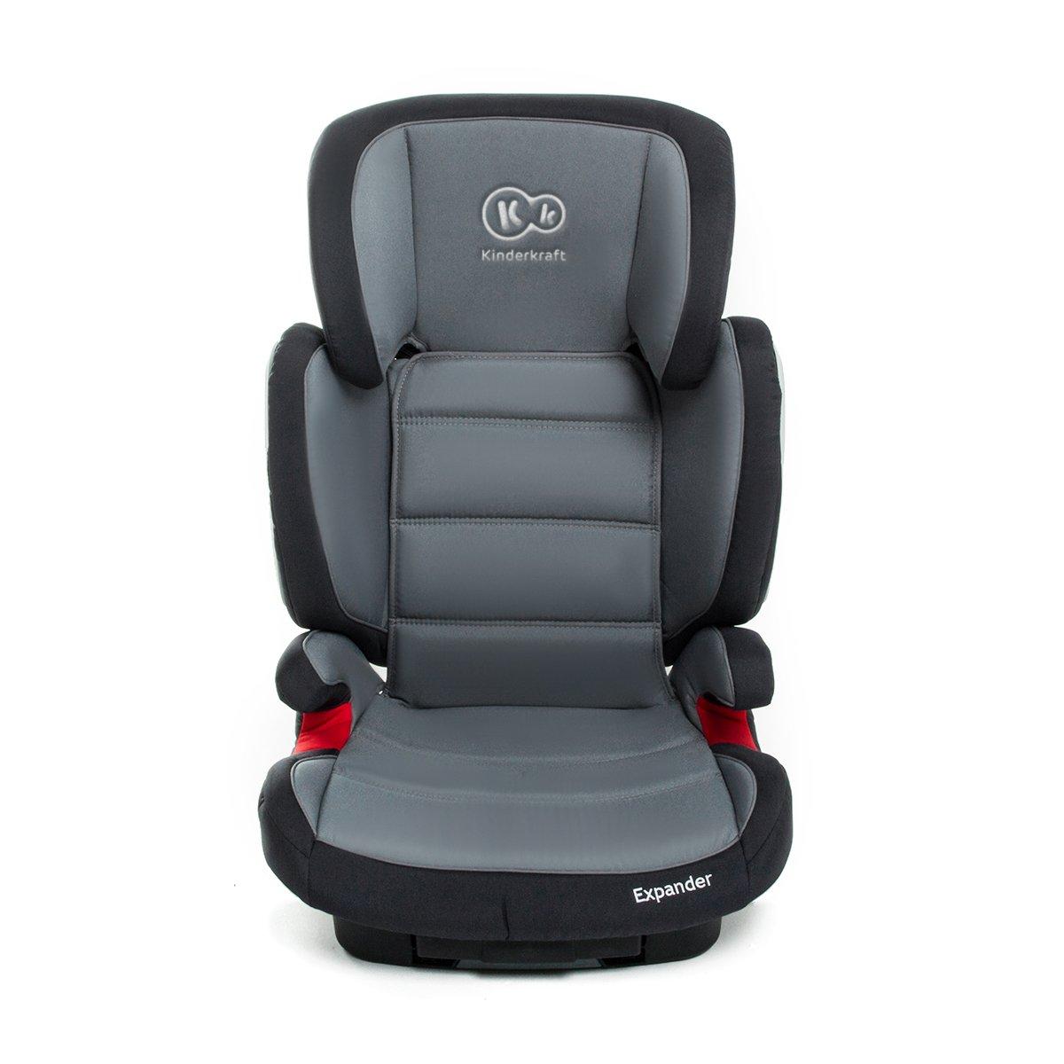 Kinderkraft Expander Kinderautositz Autokindersitz Kindersitz mit Isofix 15 bis 36 kg Gruppe 2 3 Grau 5902021216666