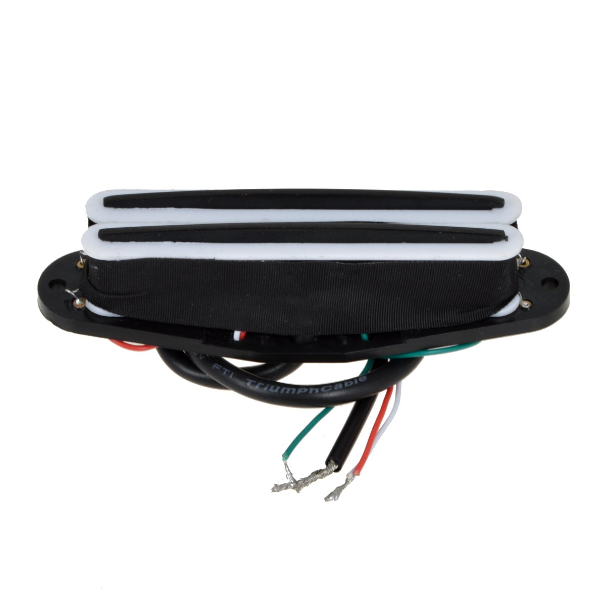 White/&Black Kmise Electric Guitar Dual Hot Rail Humbucker Pickup Double Coil Blade For Fender Strat Guitar Parts Replacement