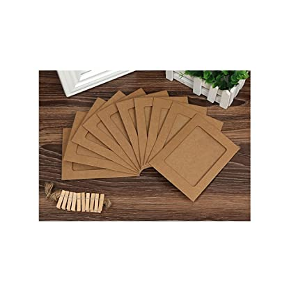 Amazon Com 10 Pcs Diy Cardboard Photo Frame Wall Deco With Clips