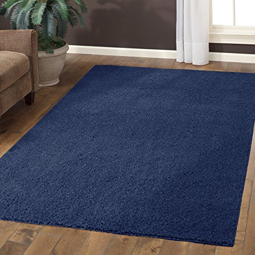 Area Rugs, Maples Rugs [Made in USA][Catriona] 7' x 10' Non Slip Padded Large Rug for Living Room, Bedroom, and Dining Room - Navy Blue