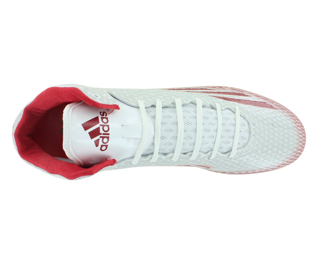 new products a6f51 d5d24 adidas Adizero 5-Star 3.0 Mid Footballschuhe - weißRot Gr. 15 US  Amazon.de Sport  Freizeit