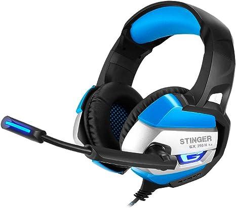 Woxter Stinger GX 250 H - Auriculares Gaming 7.1 Retroiluminados con micrófono para PS4–PC–Mac,Reducción de Ruido,Diadema Ajustable,Micrófono omnidireccional,conexión USB: Amazon.es: Informática