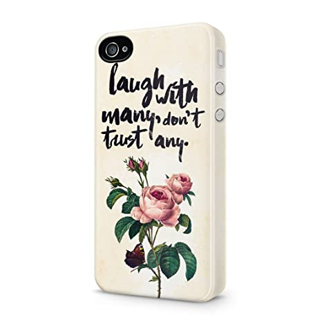 Laugh With Many Dont Trust Any Rose Thorns Tumblr Quote Hard Plastic