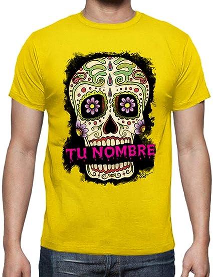 latostadora - Camiseta Tu Nombre Calavera para Hombre: Adrian Filmore: Amazon.es: Ropa y accesorios