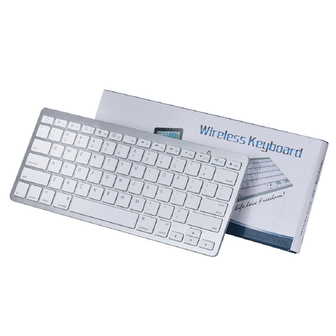 Egmy Hot! 2016 Slim Mini Bluetooth Wireless Keyboard for iPad Pro 9.7 /12.9 inch White