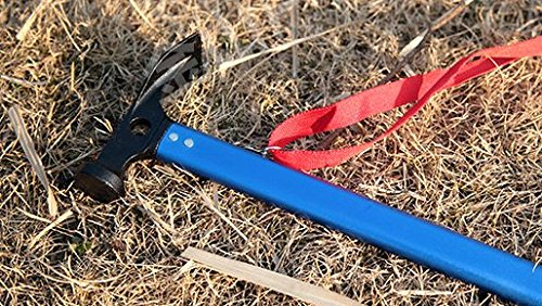 Forsun Camping Outdoor Hammer Aluminum Multi-function Hammer Tent Hammer-Blue