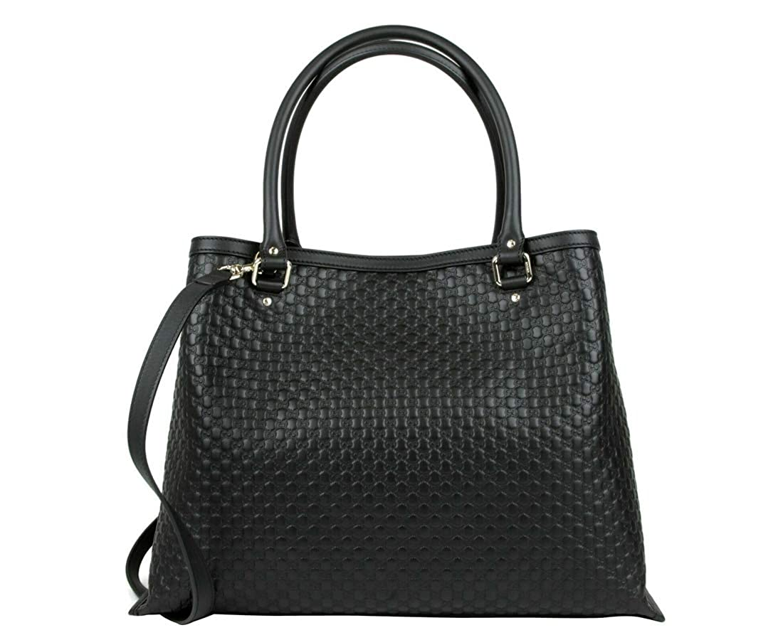 89d64574 Amazon.com: Gucci Women's Black Guccissima Leather Large Shoulder ...