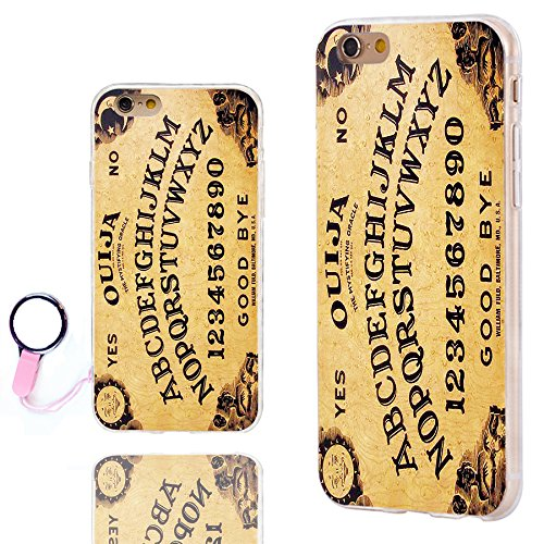 new style 33341 4aa6c iPhone 6s Case Cute,iPhone 6 Case Cool, ChiChiC [Orignal Series] Slim  Flexible Soft TPU Rubber Cases Cover for iPhone 6 6s 4.7 Inch,Yellow Funny  Ouija ...
