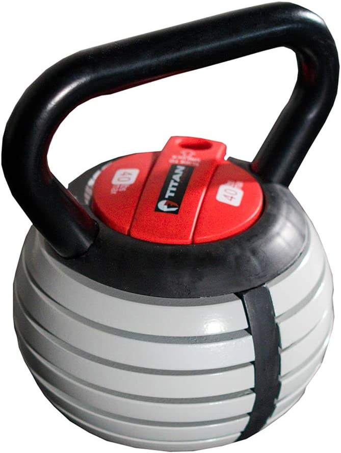 Titan Fitness Adjustable Kettlebell Weight Lifting Equipment