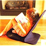 "Portable Floor Chair, MEMORY FOAM Seat, Padded Back Frame, Folding Chair. Adjustable Angle Back-Rest. 14"" W x 22"" H x 21"" Deep (Black)"