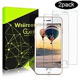 """Schutzfolie für iPhone 8 PLUS / 7 PLUS, Wsiiroon [2 Stück] Schutzglas Displayschutzfolie für iPhone 8 PLUS / 7 PLUS (5.5""""), 3D Touch Kompatibel-0.33mm, 9H Härte, Anti-Kratzen, Anti-Öl, Anti-Bläschen"""