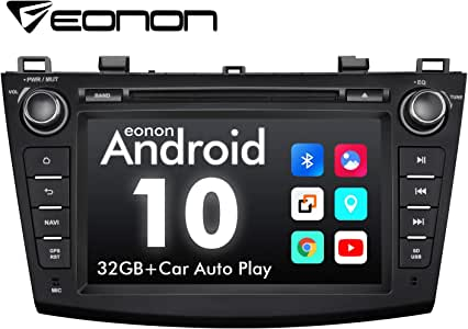2020 Car Stereo, Eonon 8 Inch Android 10 Car Radio, Applicable to Mazda 3 (2010-2013), Support Apple Carplay/Android Auto/Fast Boot/DVR/Backup Camera/OBDII -8 Inch -GA9463