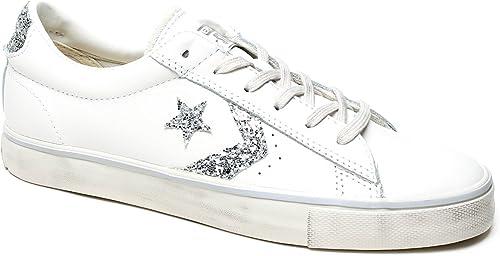 Converse PRO Leather Vulc Distressed Ox, Sneaker a Collo