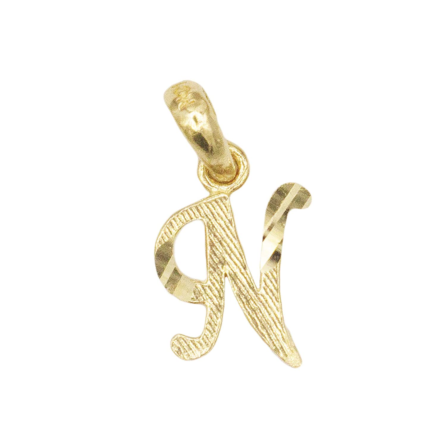 Alphabet Letter Jewelry Small in Size Dainty 14k Real Solid Gold Initial Charm Pendant Available in Other Letters