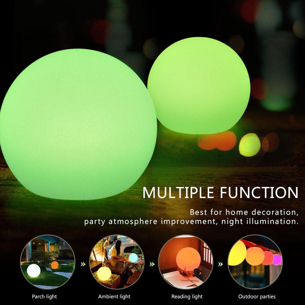 Lámpara de Noche Bola Colgante Lámpara Estroboscópica de Fiesta Navidad LED Luz Dormitorio Lámpara de Control Remoto Multi Colores ( Color : 5.9inch Ball ) VGEBY