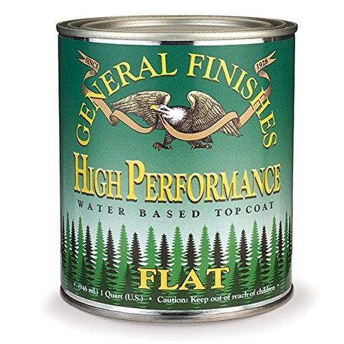 QTHF High Performance Water Based Topcoat, 1 Quart, Flat