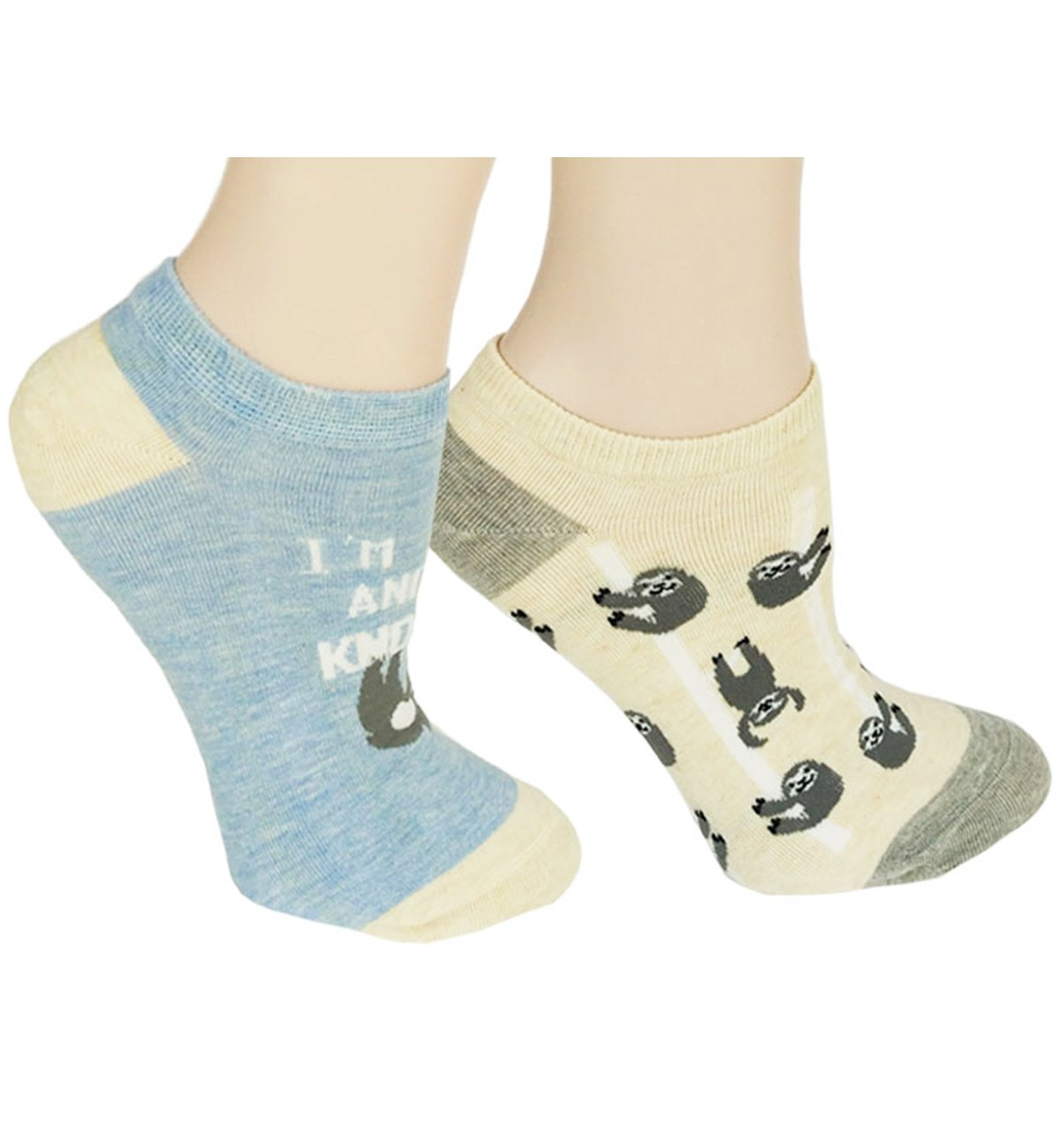 Zmart Cute Ankle Socks Funny Sloth No Show Socks for Women Girl Animal Thin Low Cut Socks