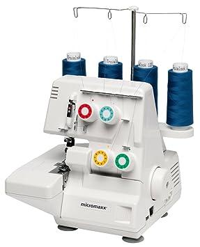 MEDION MD 10685 - Máquina de coser (Máquina de coser automática, Blanco, Overlock, 5 mm, Eléctrico, 90 W): Amazon.es: Hogar
