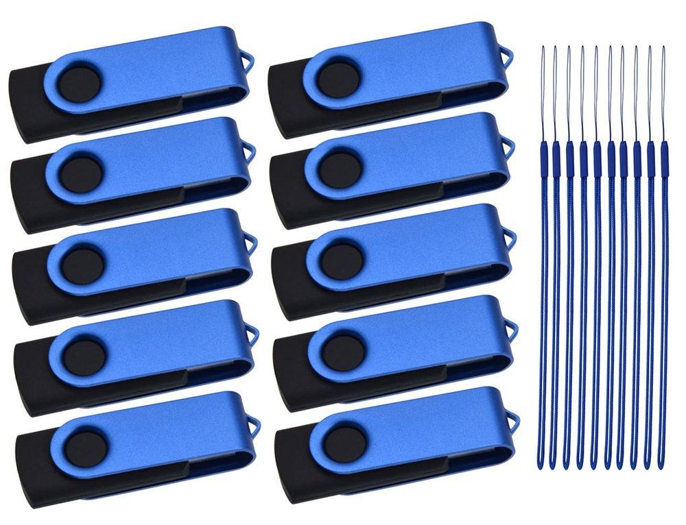 Multicolors Port/átil Flash Drive 4 GB Almacenamiento de Datos Regalo by Kepmem Metal Llavero Memoria Memoria Externo Stick 4 Giga USB 2.0 Pen Drive Memoria USB 4GB Pendrives 10 Piezas