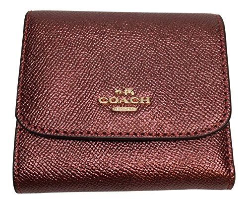 Coach Crossgrain Small Slim Wallet Metallic Cherry F21069 (Metallic Cherry)