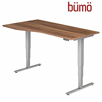 Ergonomischer bürotisch  Bümö® ergonomischer Schreibtisch elektrisch höhenverstellbar ...
