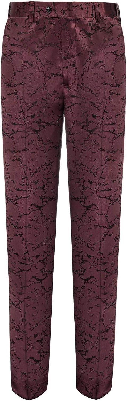 PAUL JONES Mens Stylish Business Pants Trousers Extensible Waist Jacquard
