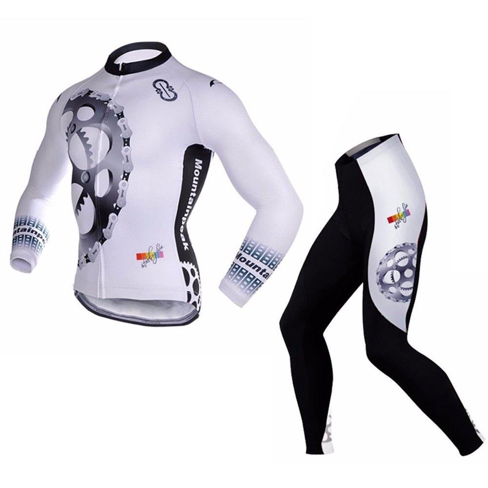 Uriah Men 's Cycling Jersey Long Sleeve and 3dジェルパッド入りパンツセット B01M7UMMMM M(CN)|Racing Gear Racing Gear M(CN)