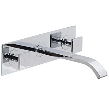 VIGO Titus Wall Mount Bathroom Faucet, Chrome Part 46
