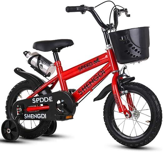 YWZQ Bicicleta para niños, Bicicletas para niños y niñas Asientos portátiles neumáticos Antideslizantes Resistentes Frenos Dobles Seguros y sensibles, Regalos de Juguetes para niños,B,12: Amazon.es: Hogar