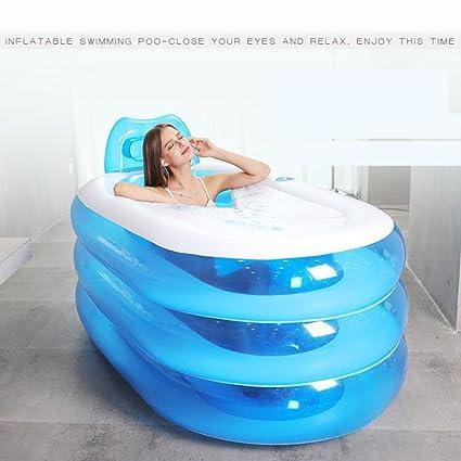 La Tina De Baño Inflable del Adulto, Aire Portátil Ambiental PVC Plegable La Bañera De