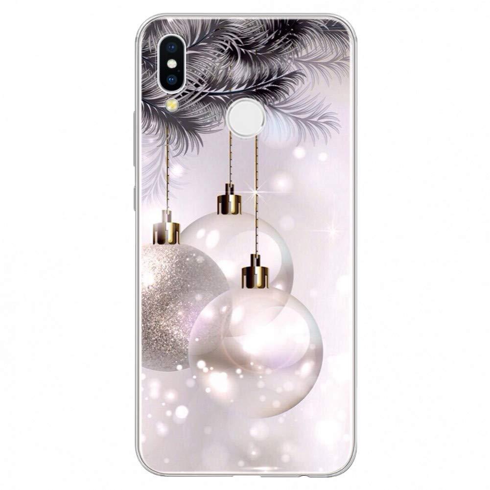 Amazon.com: KCHHA Phone case Merry Christmas TPU Cover for ...