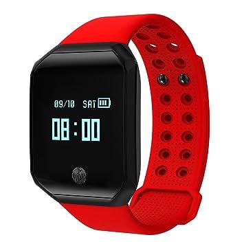 Kivors Fitness Tracker Reloj, z66 Bluetooth Pulsera Inteligente con Monitor de frecuencia Cardiaca Grande Protector