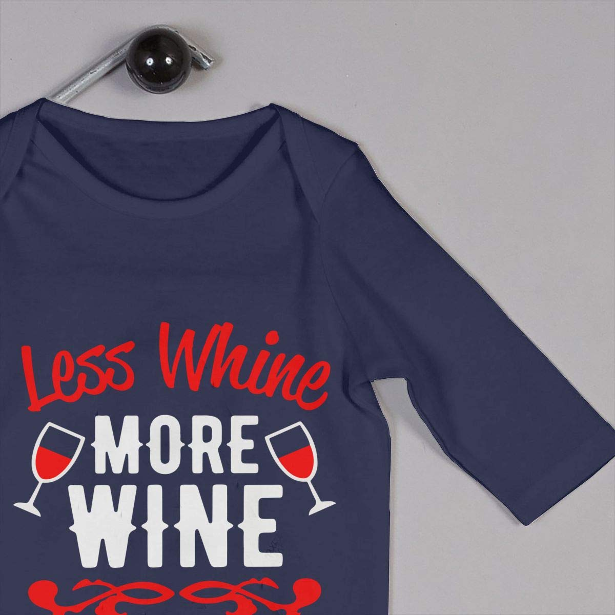 Mri-le1 Newborn Kids Organic Coverall Less Whine More Wine 1 Baby Rompers
