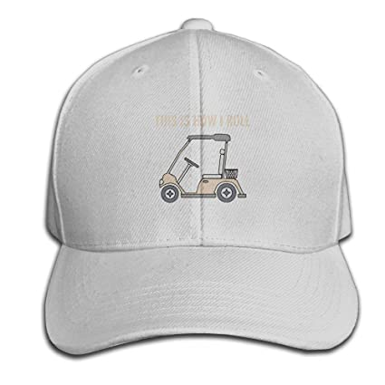 This Is How I Roll Golf Cart Funny Golfers Adjustable Baseball Caps  Unstructured Dad Hat 100 77266b3c1f6