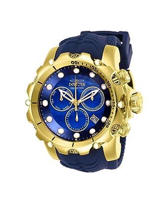 Invicta Venom Reloj de Hombre Cuarzo Suizo Correa de Silicona Color Azul 26245: Amazon.es: Relojes