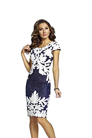 f5117dfe2c Frank Lyman Navy Off White Dress Style - 68109U at Amazon Women s ...