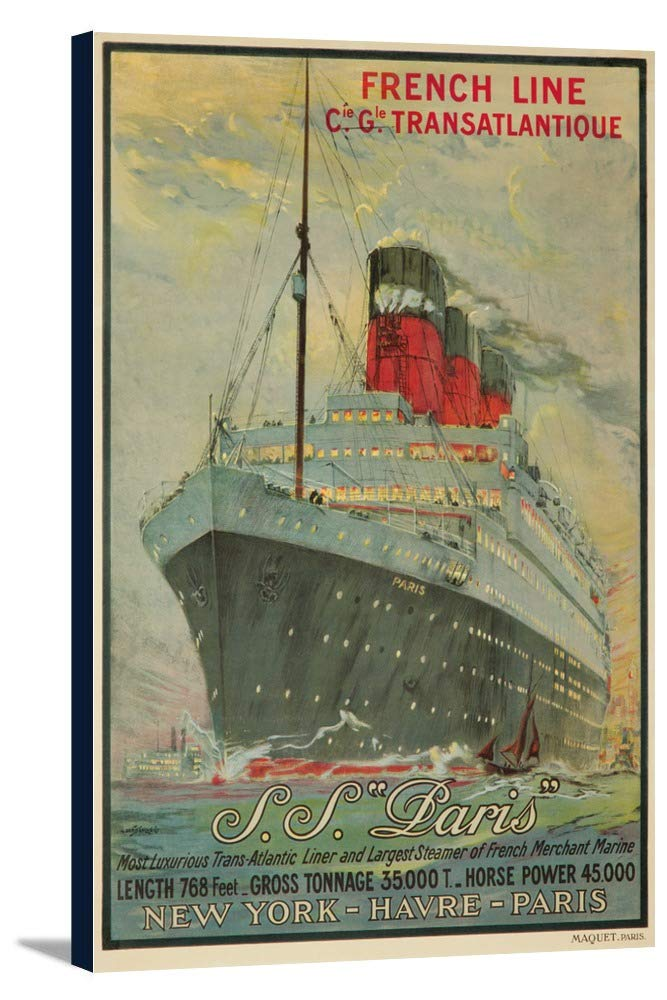 SSフランスビンテージポスター(アーティスト: Sebille、アルバート)パリC。1939 24 x 36 Gallery Canvas LANT-3P-SC-60662-24x36 24 x 36 Gallery Canvas  B0184B2SQU