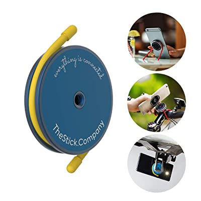 IMStick All-Purpose Phone Mount | Your Smartphone's Best Stay-Home Friend for Home Workout | Home Office | Home Entertainment | Perfect Phone Holder or Stand for Any Use - Blue