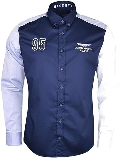 Hackett London Amr Multi Panel Twill Camisa para Hombre: Amazon.es: Ropa y accesorios