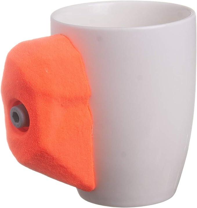 Taza de escalada de roca con agarre de mano para escalada real, apta para té caliente o café o bebidas frías | 11 oz