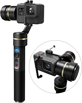 Sony RX0 - Splash Proof Yi Cam 4K Feiyu G6 3-Axis Handheld Gimbal for GoPro Hero 6//5//4//3//Session Updated Version of G5 AEE Action Cameras of Similar Size