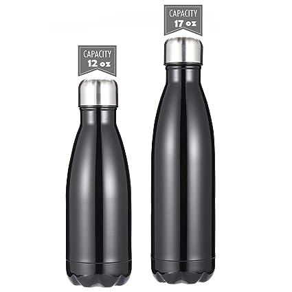 DKASA Botellas de Agua Acero Inoxidable con Aislamiento al vacío, Doble Pared de Acero Inoxidable, Botella Termo para niños, para Ciclismo, Gimnasio, ...