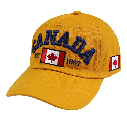 zhuzhuwen 2019 Canadian Canadian Bordado Gorra de béisbol Visor ...