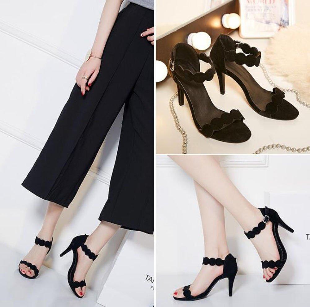 Ankle Strap Pump Wave Lace Elegant Elegant Elegant Temperament Damen Sandalen High-Heel Schuhe für Frauen 59cb44