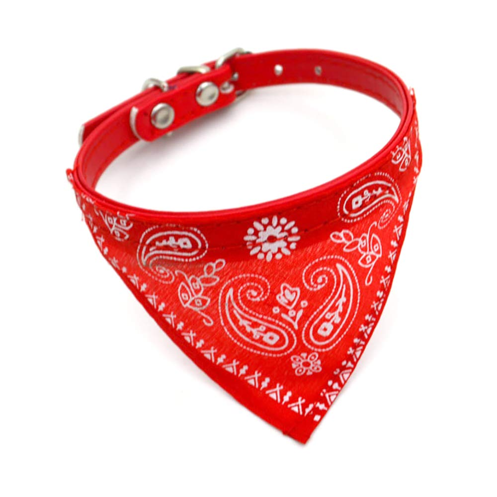 Beito Adjustable Personalized Cute Pet Bandanas Scarf Collar Dog Cat Dog Collars and Bandana - Red