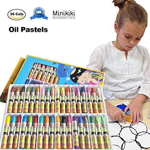 Drawing Pastel (MiniKIKI Oil Pastels, 36 Cols Washable Crayons, Color Crayons, Oil Paint Sticks, Soft Pastels, Children Drawing Set, Smooth Blending Texture, Drawing Supplies, School Art Supplies, Great for Artists)