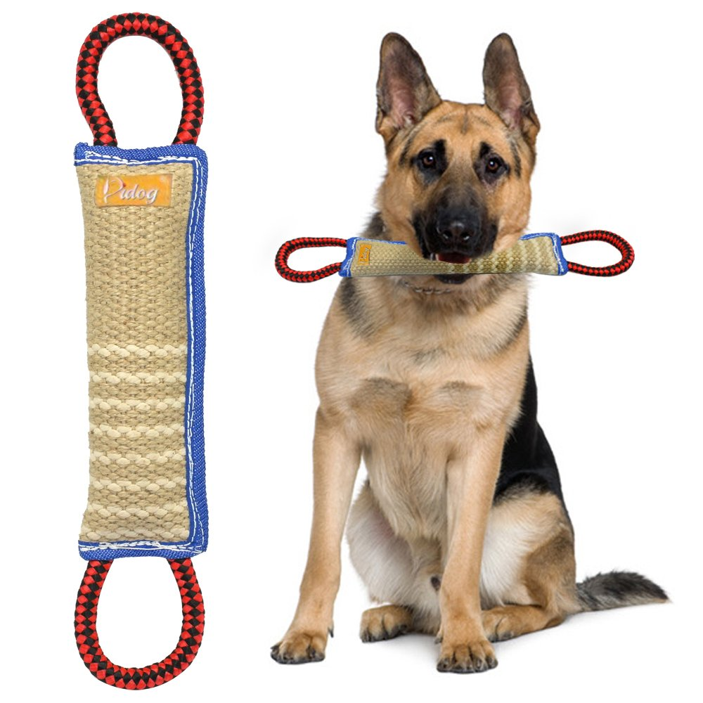 Didog Dog Bite Tug Toy with 2 Handles for Training,Sporting and Interaction Tugging Outside(11'' long)