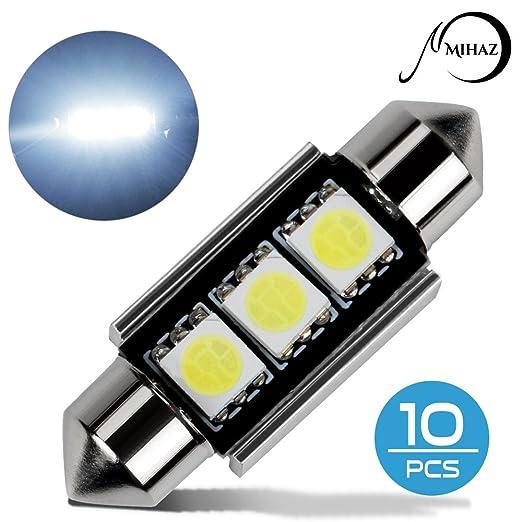 19 opinioni per Mihaz 10x 36mm CAN-Bus senza errori del festone 3SMD W5W C5W 5050 LED SMD